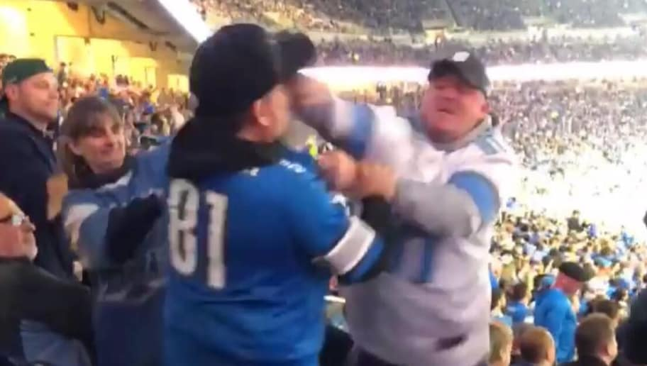 VIDEO: Lions Fans Get in Fist Fight Somehow Before Their Team Began Epic  Meltdown