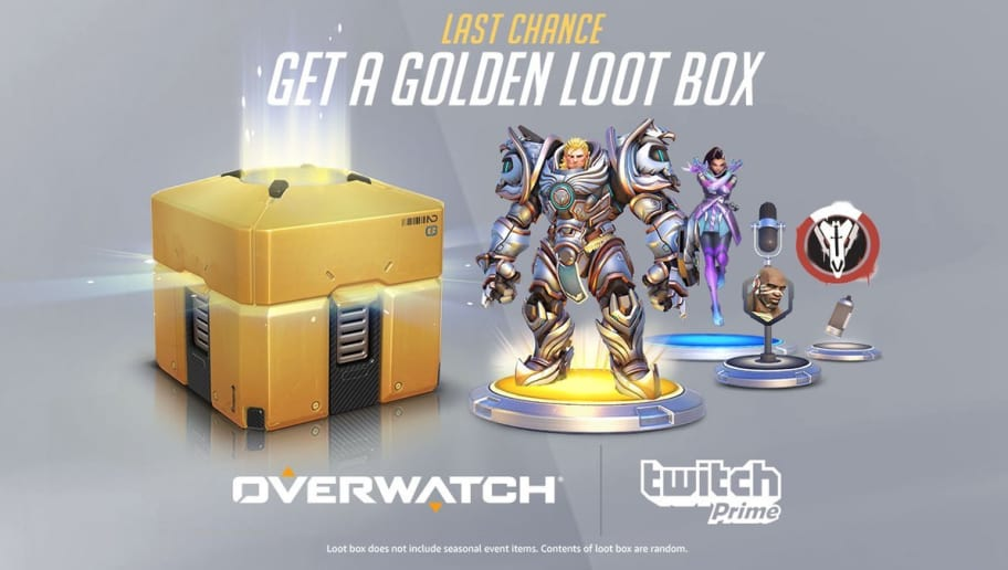 Overwatch Event Calendar.Twitch Prime Members Receive Limited Time Golden Overwatch Loot Box