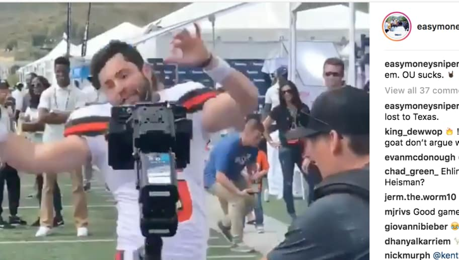 VIDEO: Kevin Durant Just Embarrassed Baker Mayfield on IG After Texas Upset Oklahoma