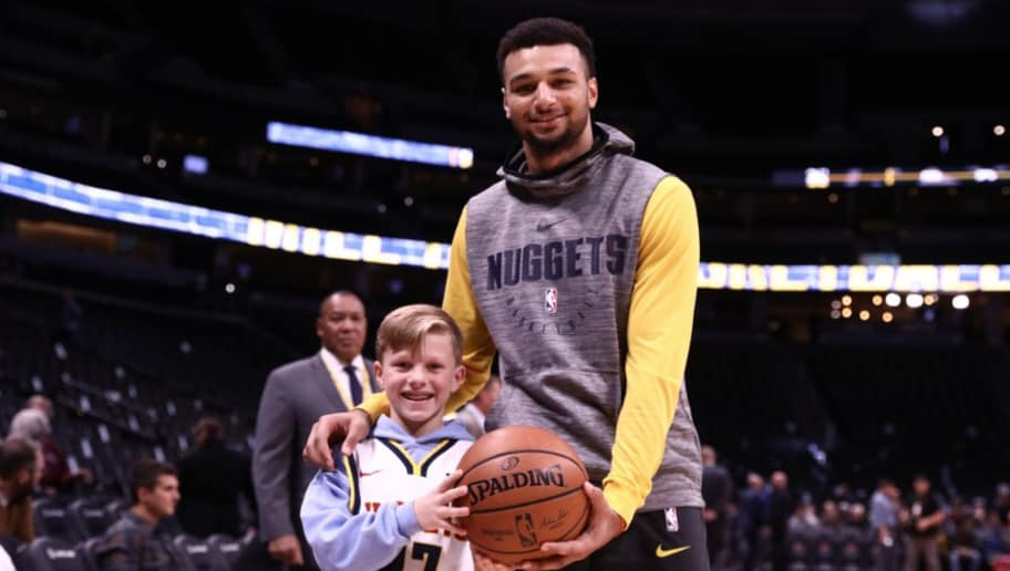 f927d017dedf Little Boy Gives Jamal Murray Back the Ball Kyrie Viciously Threw Into the  Crowd