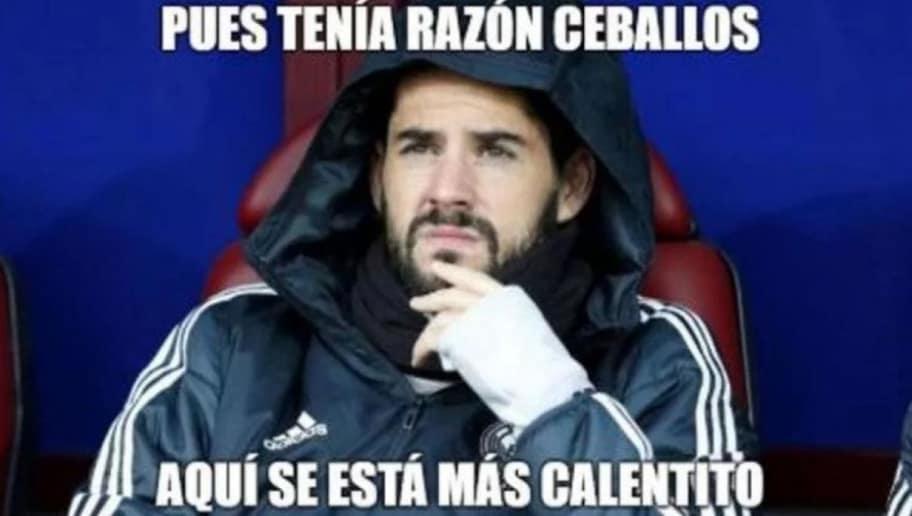 Los Mejores Memes Del Castigo A Isco La Victoria De Ronaldo Y