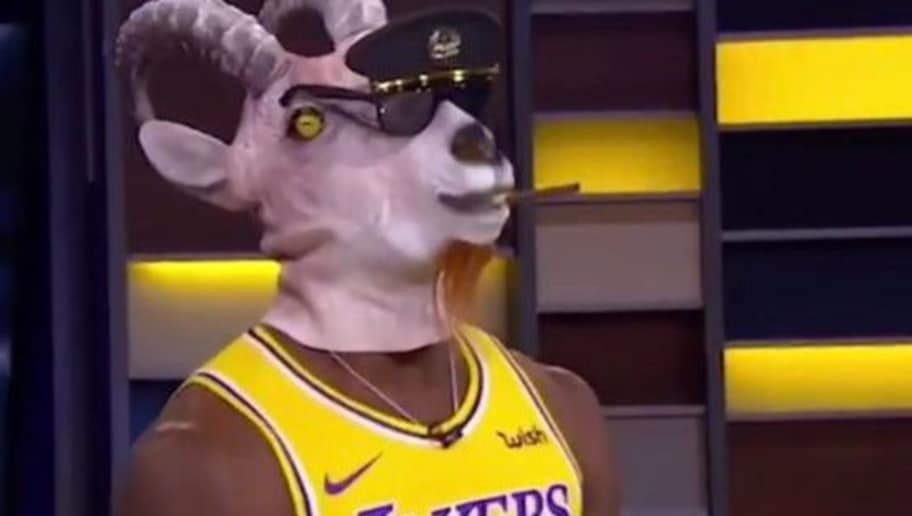 wholesale dealer 1ce69 3a22c VIDEO: Shannon Sharpe Dresses Up in Actual Goat Mask After ...