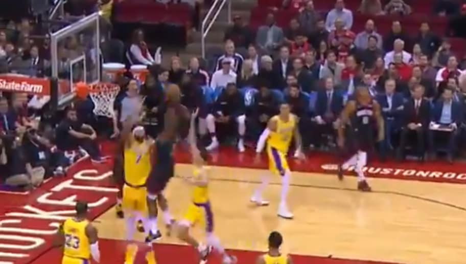 f5f254008a1d VIDEO  James Harden Throws Down Monster Slam on JaVale McGee