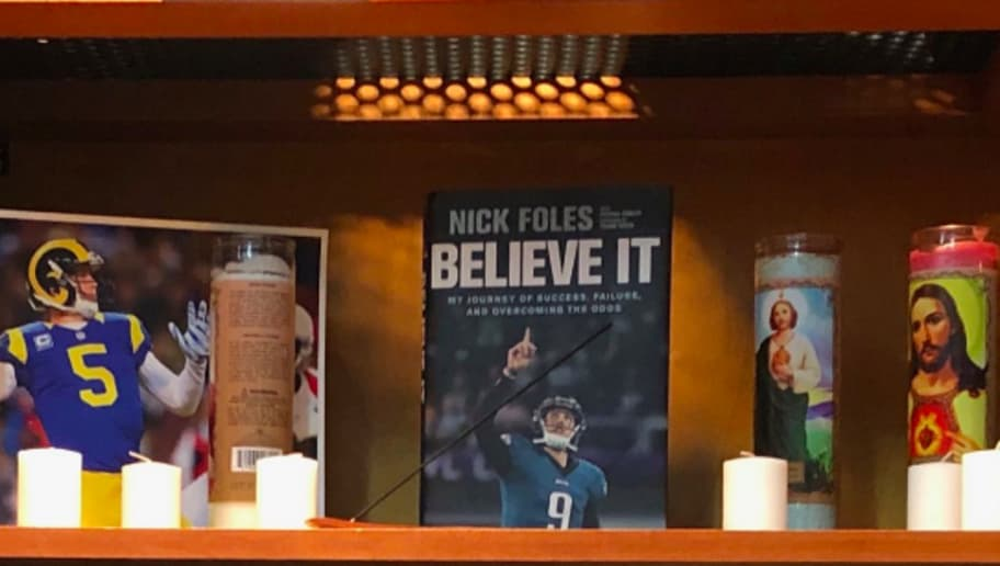 The Eagles Made A Nick Foles Shrine In Their Locker Room 12up