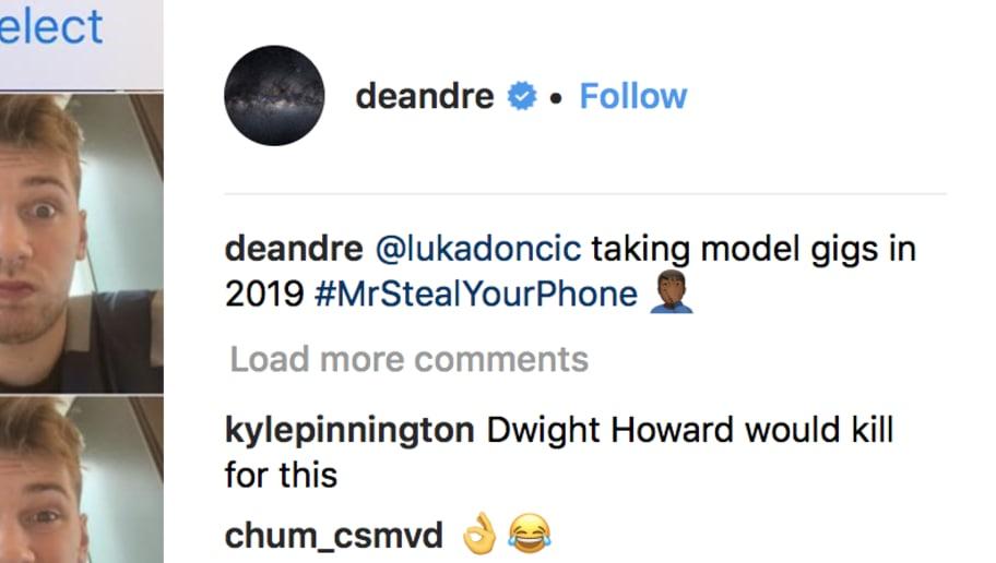 Adelaida Indulgente Delincuente  Luka Doncic Steals DeAndre Jordan's Phone and Posts 20 IG Photos of Himself    12up