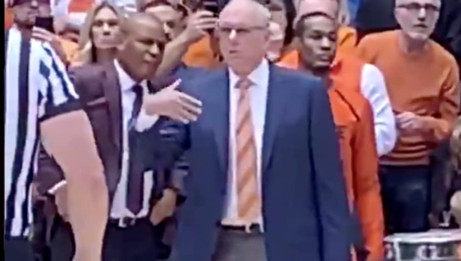 Video Jim Boeheim Appears To Pee Himself During Syracuse S Upset
