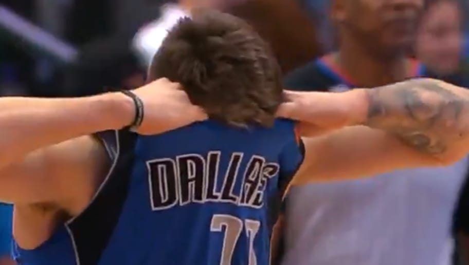 new product 0432d a55c4 VIDEO: Luka Doncic Rips Jersey in Half After Missing Buzzer ...