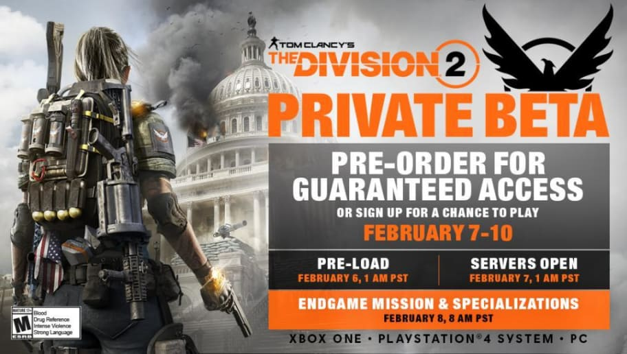 The Division 2 Beta End Time: When Can You Play the Division 2 Beta
