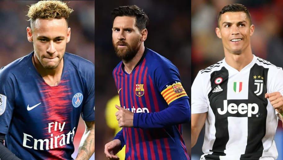 Kết quả hình ảnh cho Top 3 cầu thủ bóng đá thu nhập cao nhất năm 2019