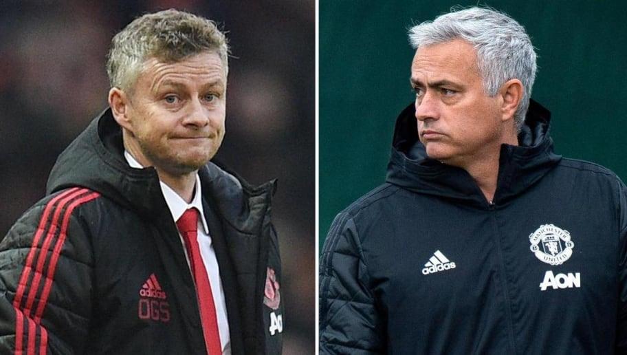 Kết quả hình ảnh cho Solskjaer và Mourinho