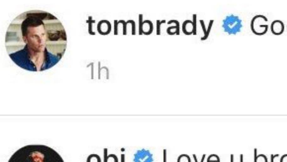 Odell Beckham Jr  Comment on Tom Brady's Instagram Post Has