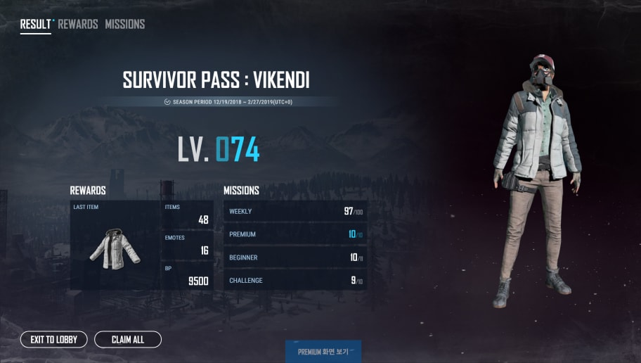 Survivor Pass Vikendi Temporarily Added To Pubg Pts Patch 26 Dbltap