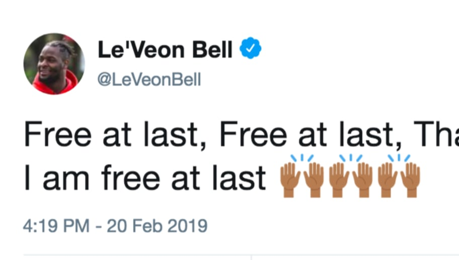 Leveon Bell Bizarrely Uses Mlk Quote In Free Agency Tweet 12up