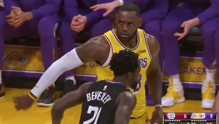 hot sale online 48f96 0c8a6 VIDEO  Pat Beverley Wastes No Time Annoying the Hell Out of LeBron James