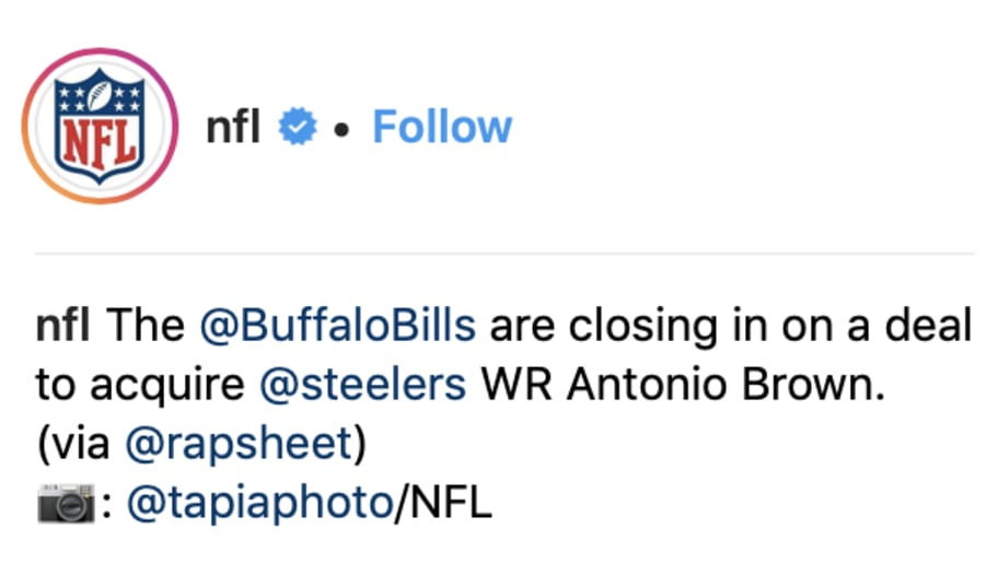 Antonio Brown Calls Report Of Imminent Trade To Bills Fake