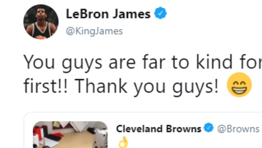 more photos 97522 70524 LeBron James Hilariously Calls First Dibs on Odell Beckham ...
