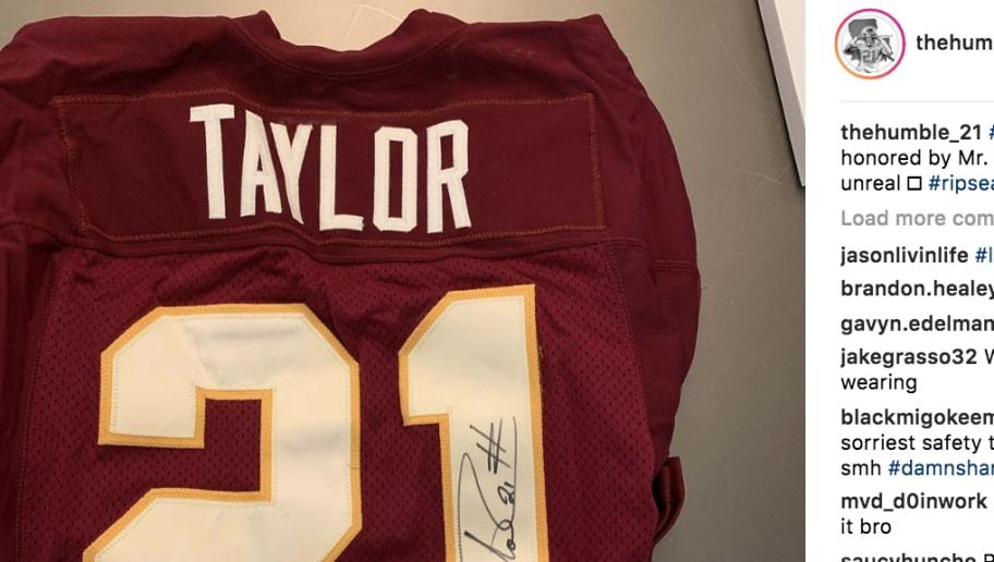 Dan Snyder Giving Landon Collins A Signed Sean Taylor
