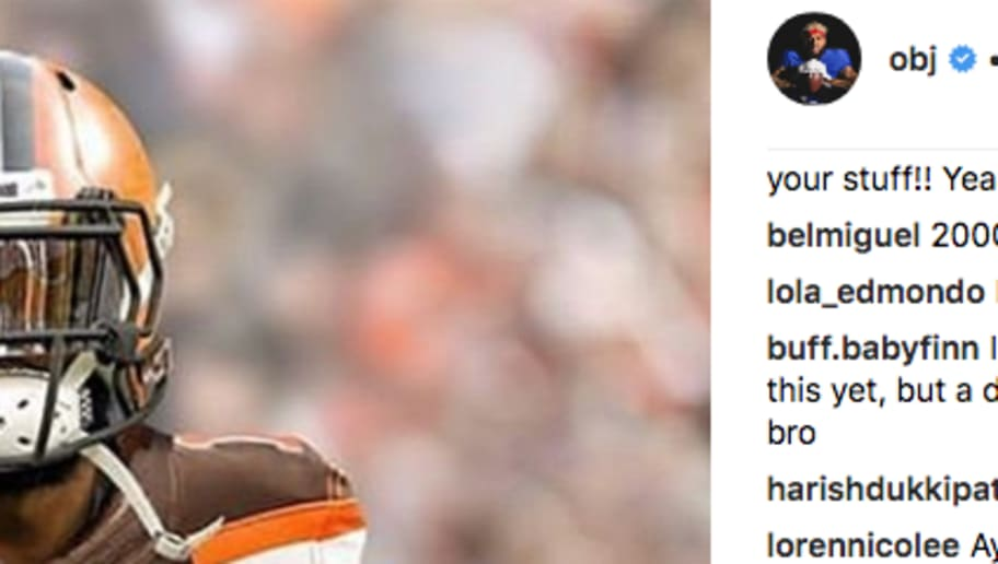 newest e010e 57aae Odell Beckham Jr. Posts Photo of Himself in Browns Jersey on ...