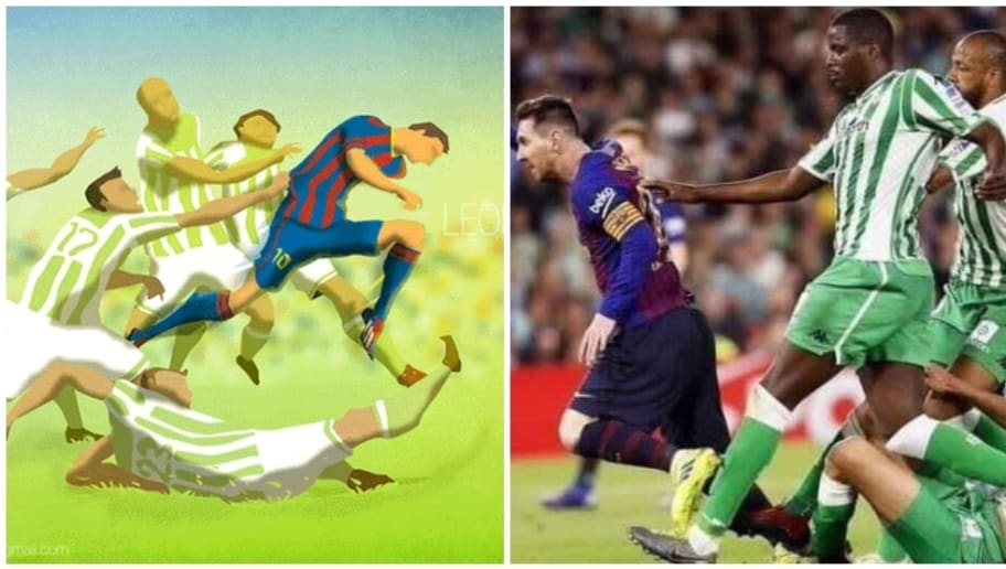 Indian Fan-Made Painting of Lionel Messi Comes to Life Against Real Betis