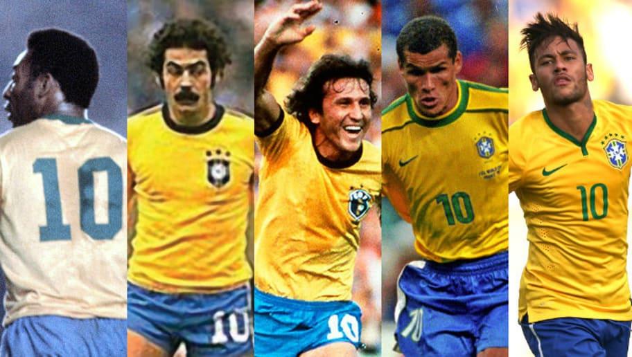 Os 10 maiores camisas 10 da história da Seleção Brasileira | 90min