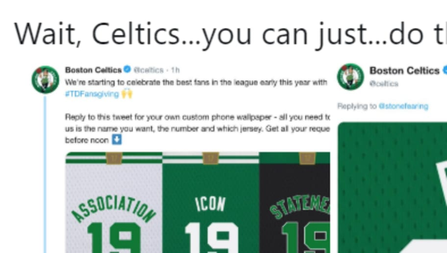 9f205871e Celtics Clearly Tampering by Making Custom Anthony Davis Jersey on Twitter  Account