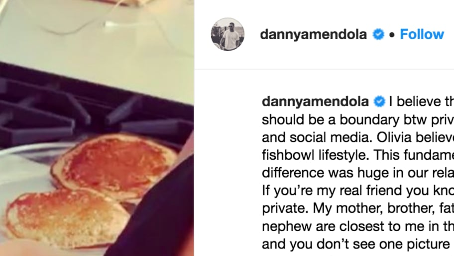 Danny Amendola Addresses Olivia Culpo Breakup in Lengthy IG Post