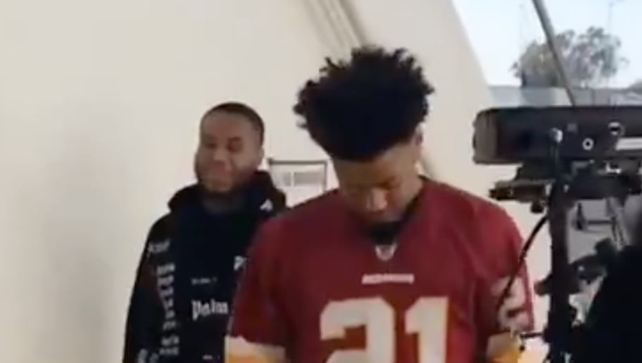 save off 9238d 14e59 VIDEO: Warriors' Quinn Cook Honors Late Redskins Star Sean ...
