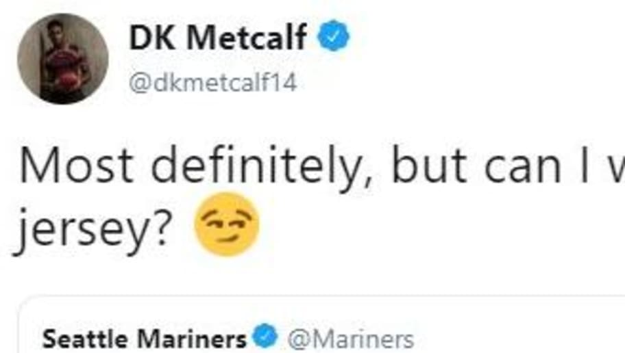 cheap for discount 28ace 6296d DK Metcalf Responds to Mariners' Request for Shirtless First ...