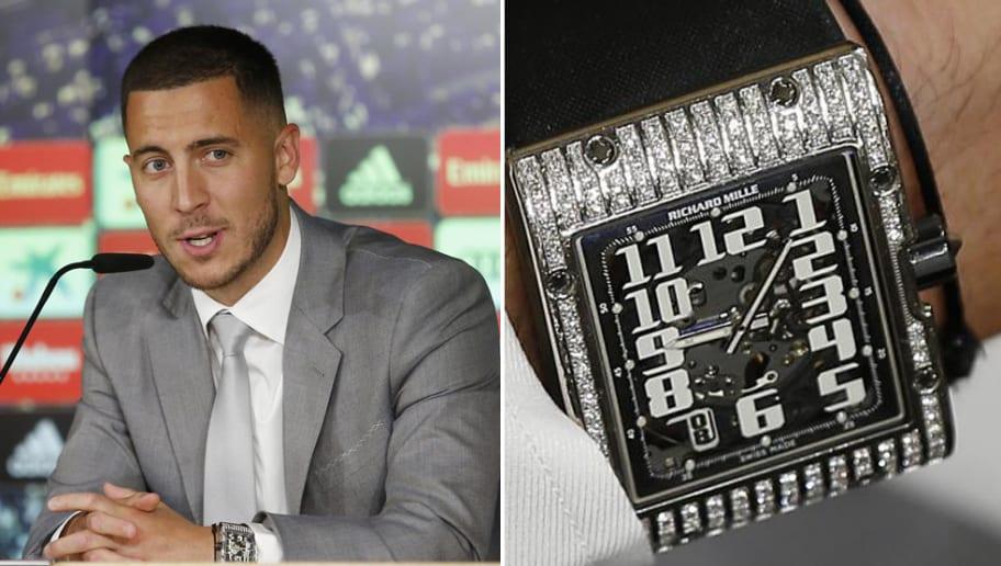 Eden Hazard Wore €68,000 Watch on His Real Madrid Presentation