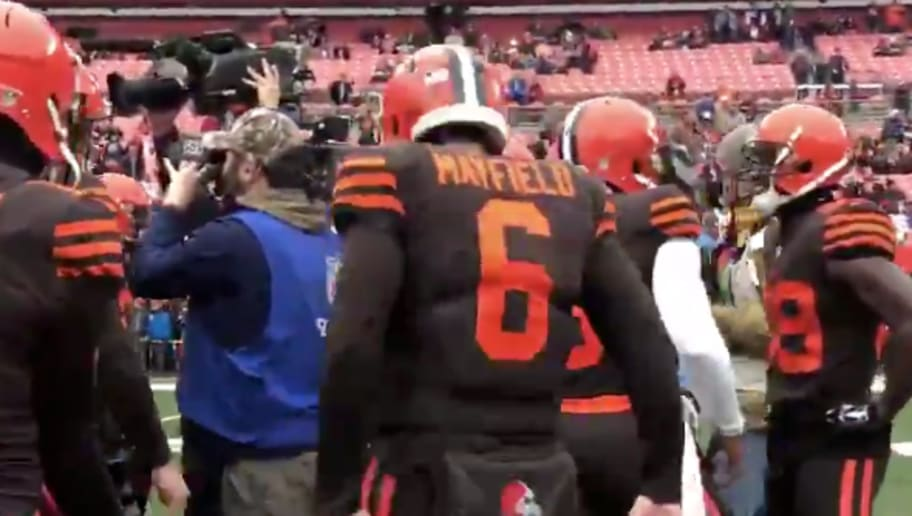 VIDEO: Baker Mayfield Gets Hyped by Drumming Along to Phil