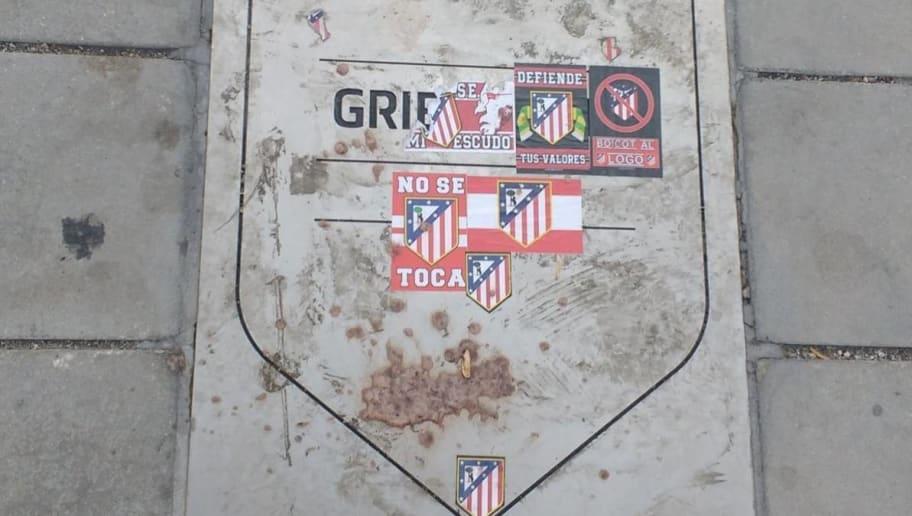 Atletico Madrid Fans Deface Antoine Griezmann's Plaque Outside Wanda Metropolitano