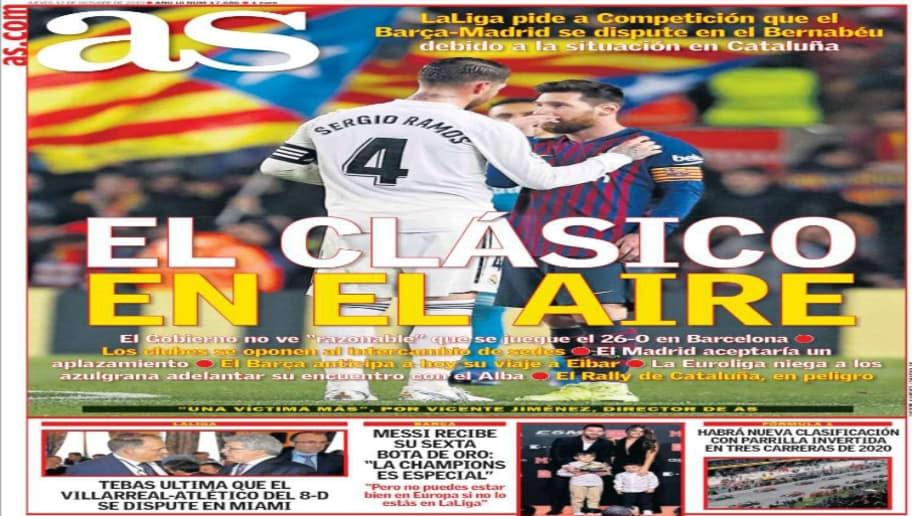 La Bota de Oro de Messi y la incertidumbre del Clásico copan las portadas 3