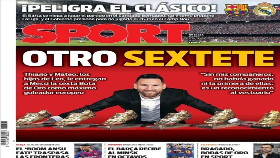 La Bota de Oro de Messi y la incertidumbre del Clásico copan las portadas 4