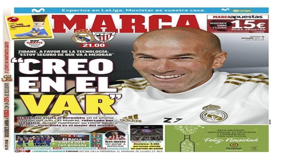 La victoria del Barça en LaLiga y el partido del Real Madrid ante el Athletic, hoy en las portadas 1
