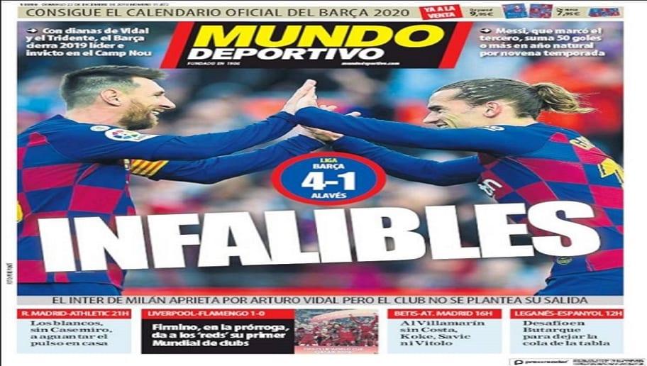 La victoria del Barça en LaLiga y el partido del Real Madrid ante el Athletic, hoy en las portadas 3