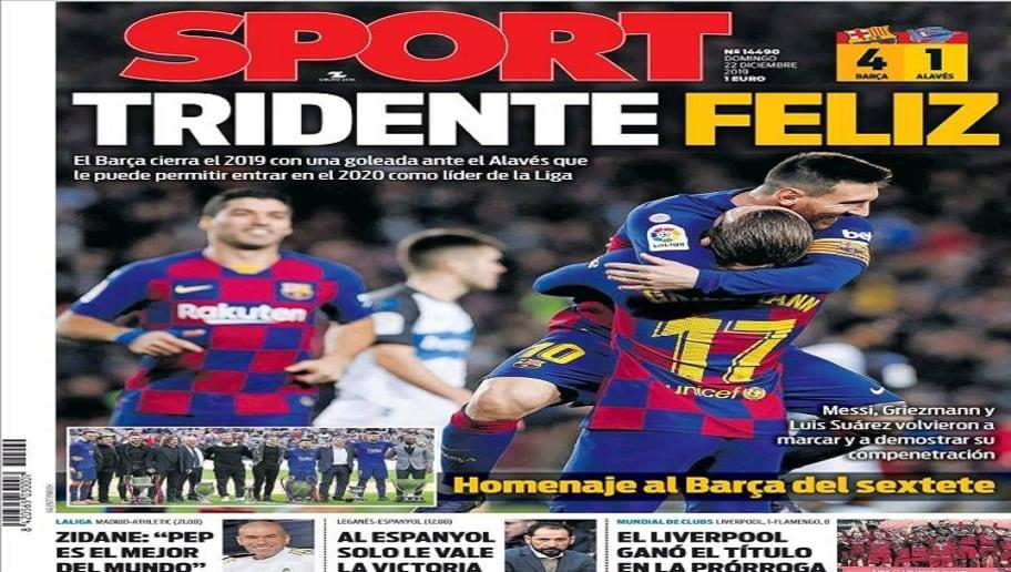 La victoria del Barça en LaLiga y el partido del Real Madrid ante el Athletic, hoy en las portadas 4