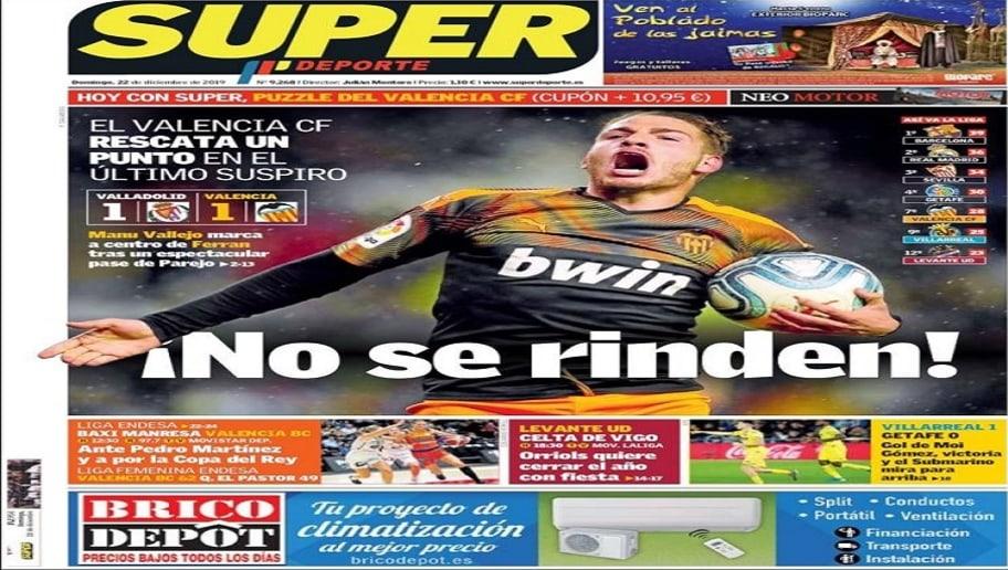 La victoria del Barça en LaLiga y el partido del Real Madrid ante el Athletic, hoy en las portadas 5