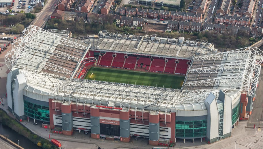 Aerial photograph of Old Trafford, Home of Manchester United football club