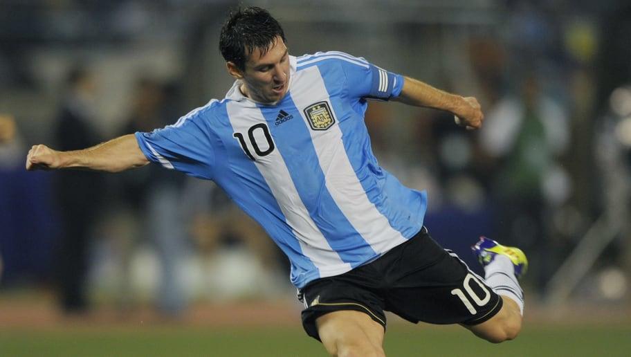 Argentine captain Lionel Messi attempts