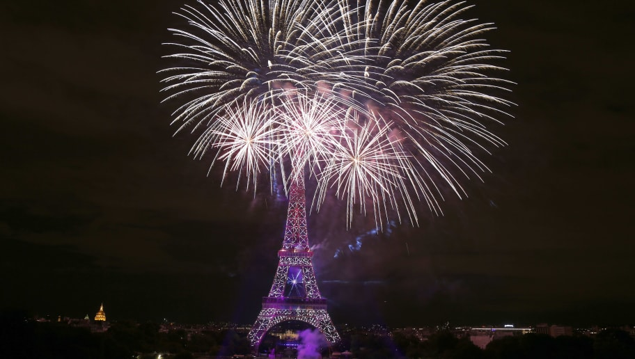 Bastille Day Fireworks At The Eiffel Tower In Paris