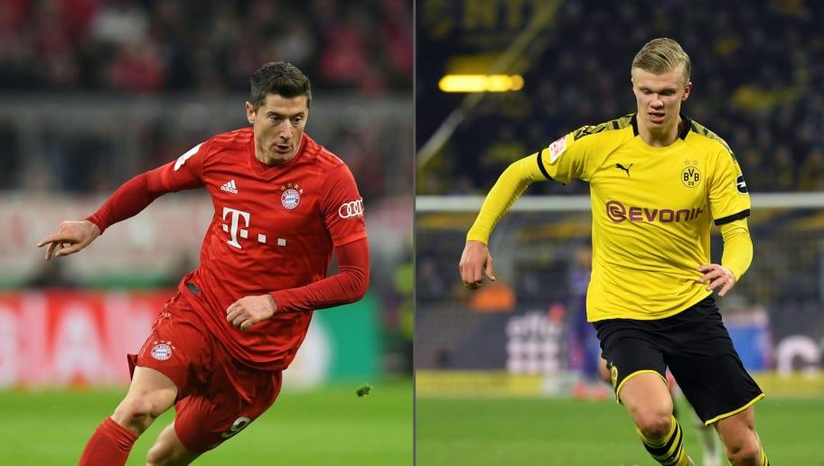 Duell der Torjäger: Robert Lewandowski vs. Erling Haaland