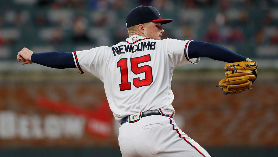 ATLANTA, GEORGIA - APRIL 01:  Sean Newcomb #15 of the Atlanta Braves pitches in the fifth inning against the Chicago Cubs on April 01, 2019 in Atlanta, Georgia. (Photo by Kevin C.  Cox/Getty Images)