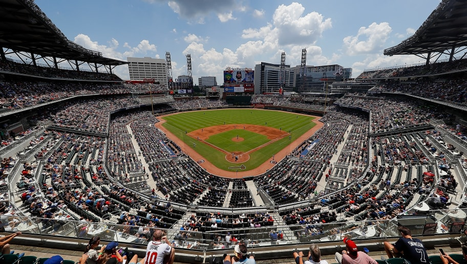 ATLANTA, GA - JULY 19:  A general view of SunTrust Park during the game between the Atlanta Braves and the Chicago Cubs on July 19, 2017 in Atlanta, Georgia.  (Photo by Kevin C. Cox/Getty Images)