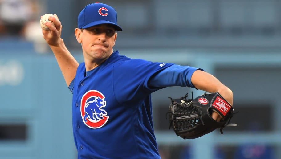 LOS ANGELES, CA - JUNE 14: Kyle Hendricks #28 of the Chicago Cubs pitches in the first inning of the game against the Los Angeles Dodgers at Dodger Stadium on June 14, 2019 in Los Angeles, California. (Photo by Jayne Kamin-Oncea/Getty Images)