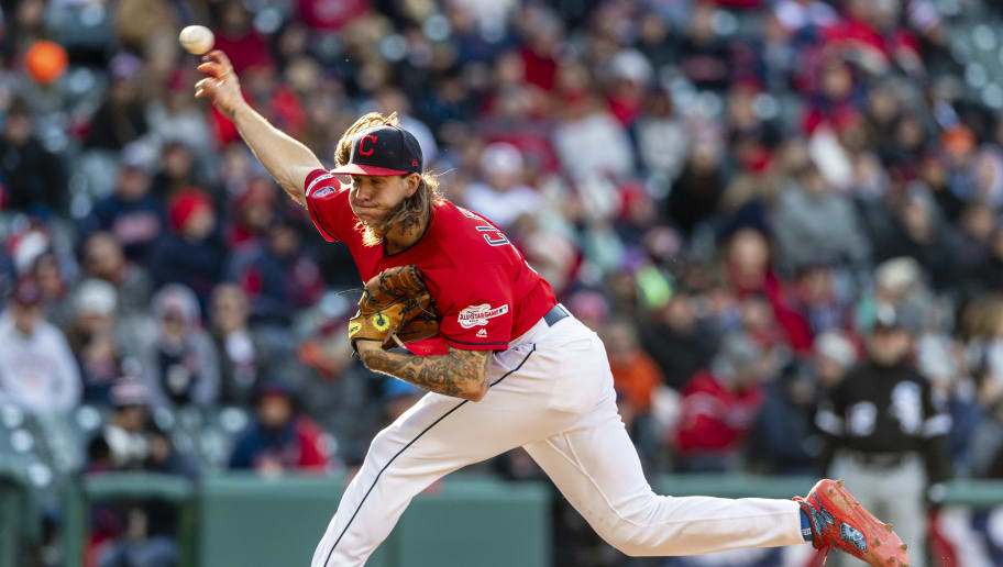 CLEVELAND, OH - APRIL 01: Starting pitcher Mike Clevinger #52 of the Cleveland Indians pitches during the sixth inning against the Chicago White Sox at Progressive Field during the Indians Home Opener on April 1, 2019 in Cleveland, Ohio. (Photo by Jason Miller/Getty Images)