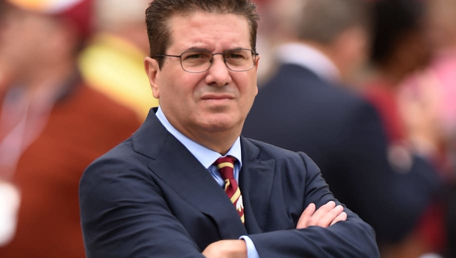 LANDOVER, MD - OCTOBER 2: Washington Redskins owner Dan Snyder looks on prior to a game against the Cleveland Browns at FedExField on October 2, 2016 in Landover, Maryland. (Photo by Mitchell Layton/Getty Images)