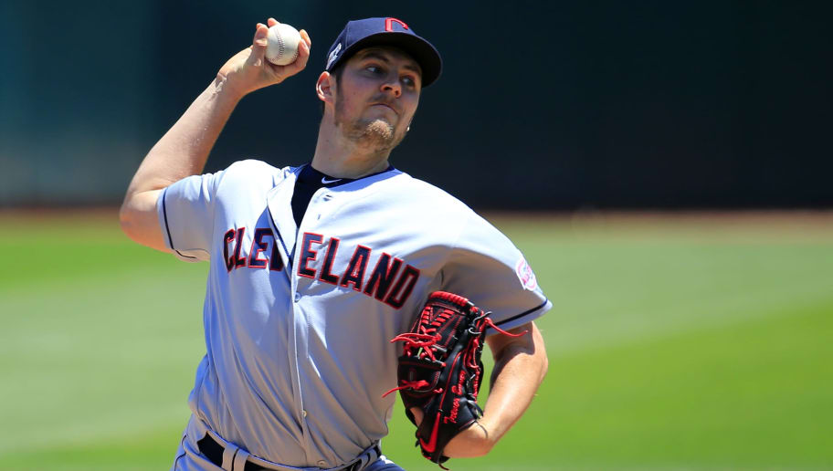 OAKLAND, CALIFORNIA - MAY 11: Trevor Bauer #47 of the Cleveland Indians pitches during the first inning against the Oakland Athletics at Oakland-Alameda County Coliseum on May 11, 2019 in Oakland, California. (Photo by Daniel Shirey/Getty Images)