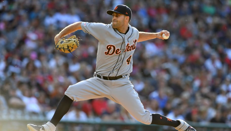 CLEVELAND, OHIO - JUNE 21: Starting pitcher Matthew Boyd #48 of the Detroit Tigers pitches during the first inning against the Cleveland Indians at Progressive Field on June 21, 2019 in Cleveland, Ohio. (Photo by Jason Miller/Getty Images)