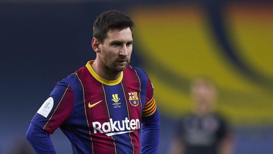 Messi a été expulsé en finale de la Supercopa, ce dimanche.