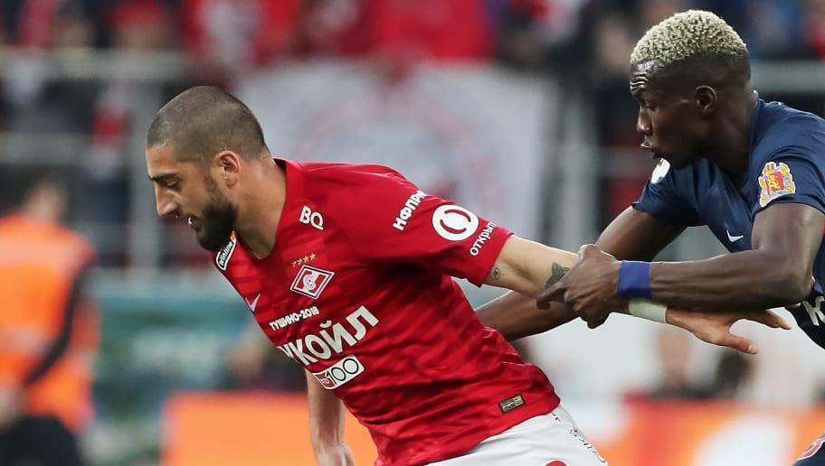 Samuel Gigot (à gauche) sous les couleurs du Spartak.